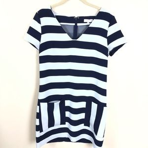 1. State navy and white stripe shift dress small